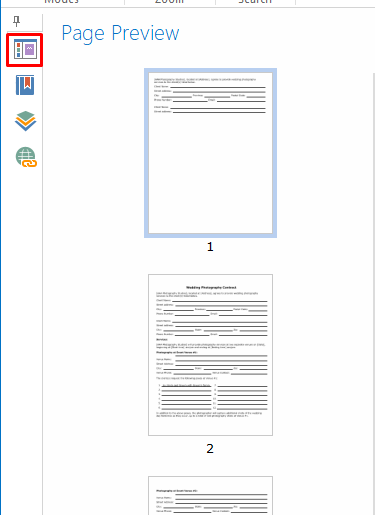 page preview dynamic pdf contract template