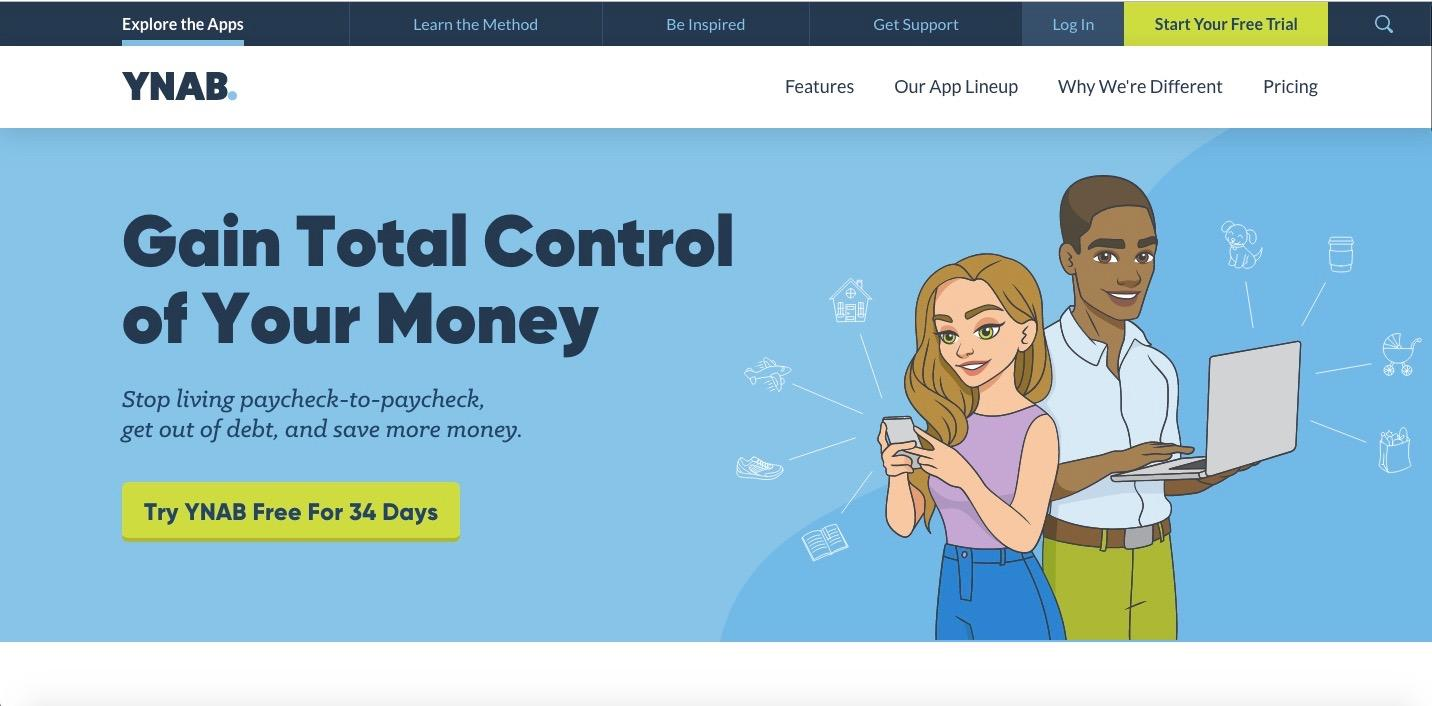 YNAB best budgeting personal finance apps