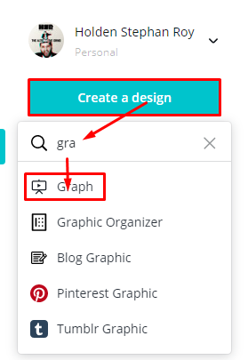 Search graph in Canva