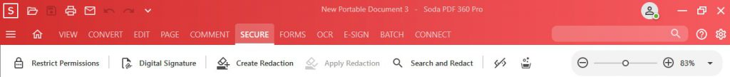 Secure Feature - Secure Tools - Soda PDF 12