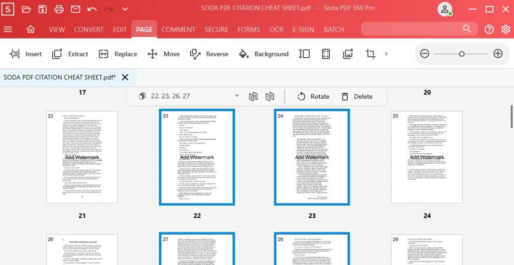 Select Page Ranges - Page Module - Soda PDF