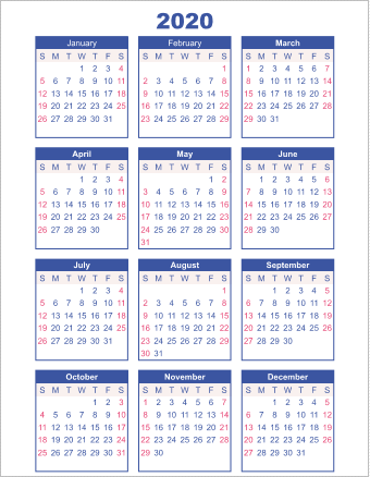 The Best Pdf Calendar Templates For 2020