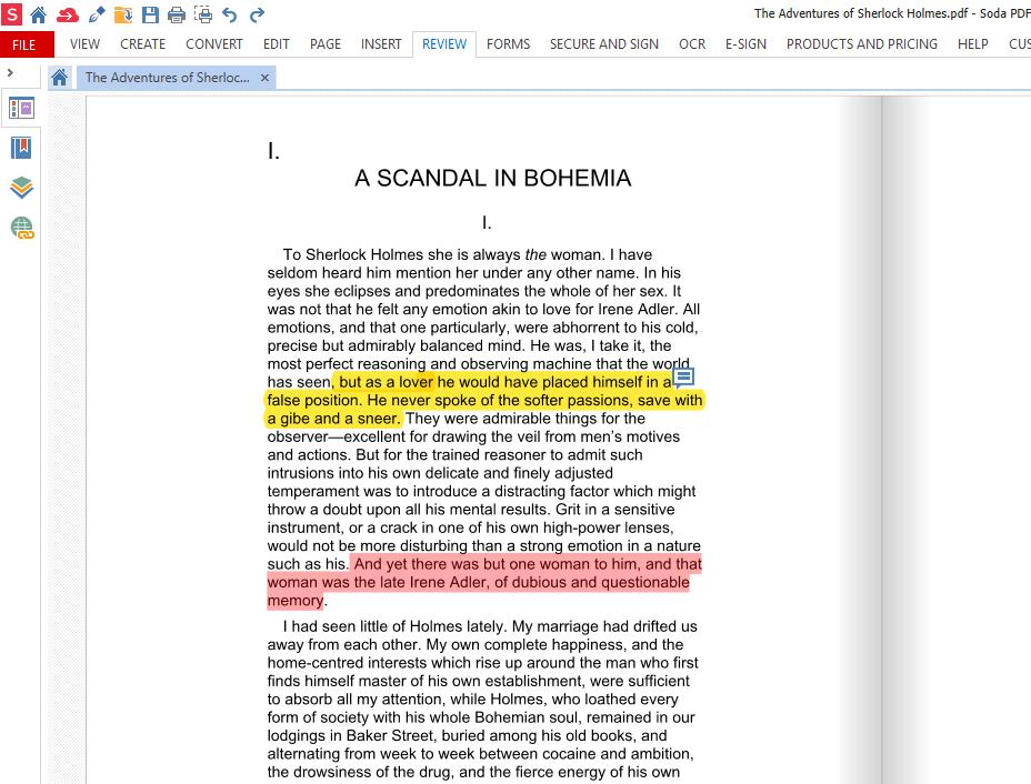 Soda PDF - Whiteout tool
