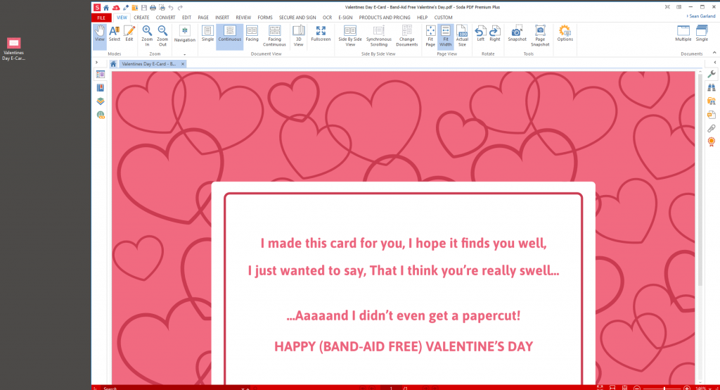 Upload Valentine's Day Card - Soda PDF