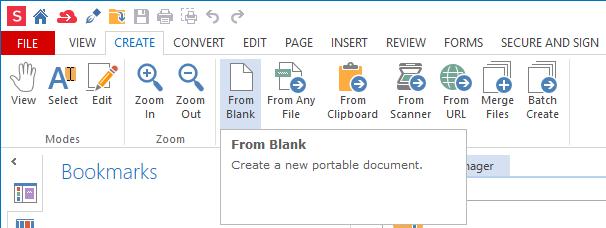 Create from blank - Soda PDF