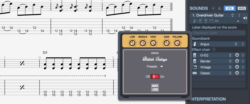 Guitar Pro 7.5 Effects