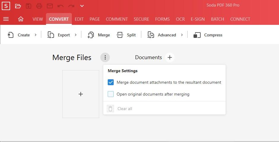 Combine Documents - Review Merge Files Option - Soda PDF 12