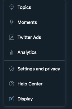 Settings and Privacy - Twitter