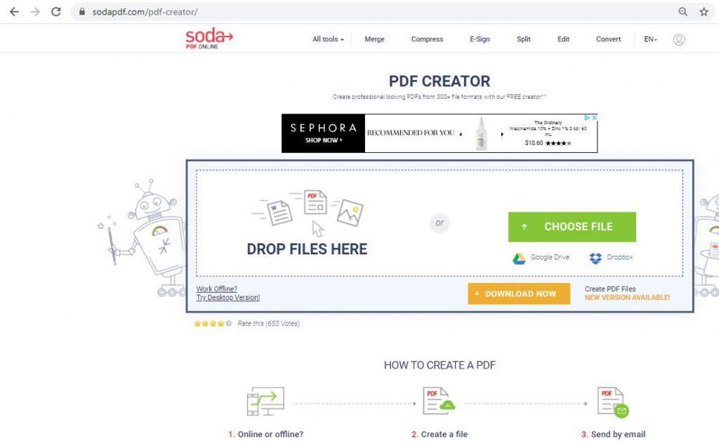 Soda PDF - PDF Creator Service Page - SodaPDF.com