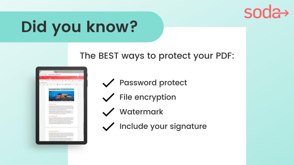Did You Know - PDF Security - Soda PDF