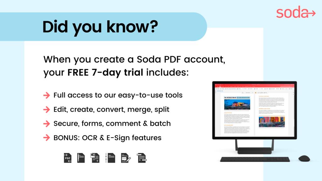Soda PDF - Free Trial