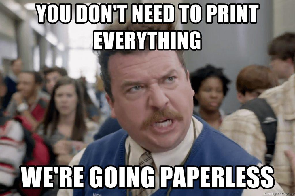 Print Less Meme