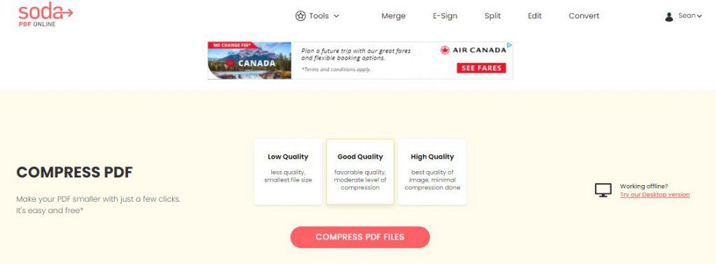 Compress PDF - Soda PDF - Online Tool