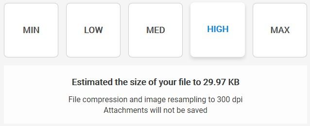 High Compression - Soda PDF Desktop - Compress Tool