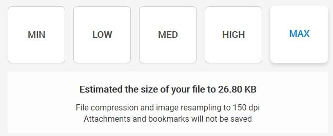 Maximum Compression - Soda PDF Desktop - Compress File