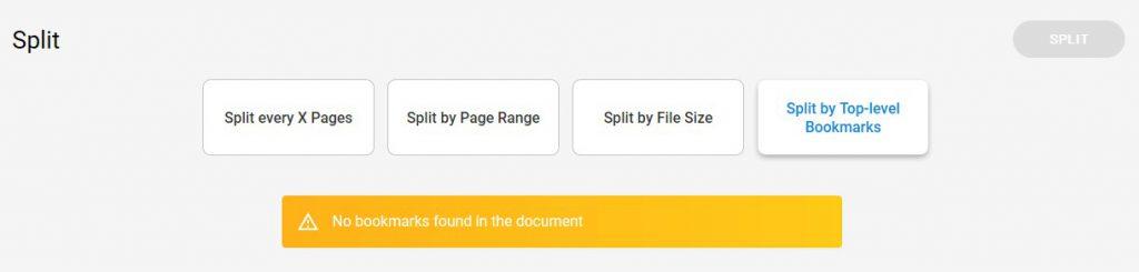How To Split PDFs - Split Tool - Split by Top-Level Bookmarks - Soda PDF Desktop
