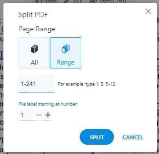 Split PDF - Page Range - Split PDF Document - Soda PDF Online - How To Split PDFs