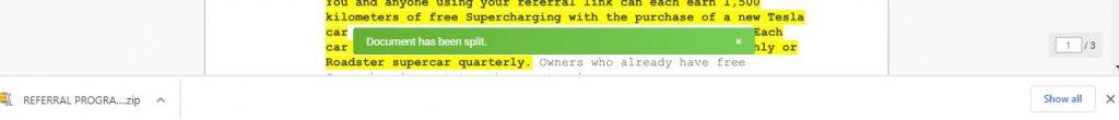 Document Has Been Split - Split Tool - How To Split PDFs on MAC - Soda PDF Online