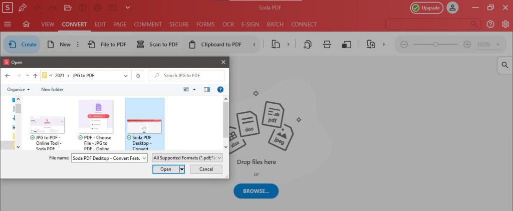Soda PDF Desktop - Open JPG Convert to PDF - How to Convert JPG to PDF