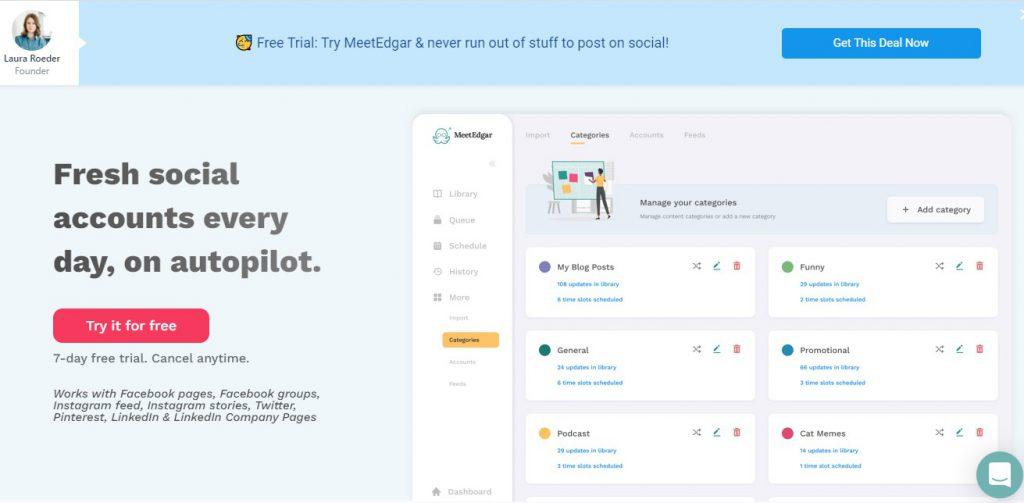 MeetEdgar - Top 5 Social Media Tools - Soda PDF