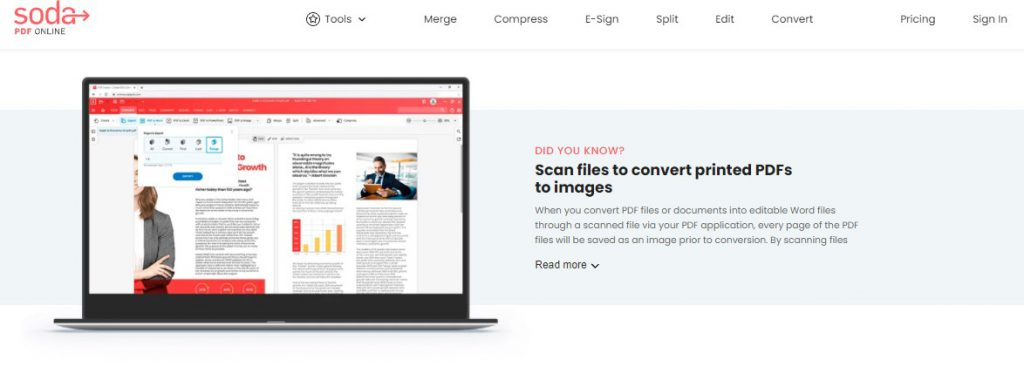 PDF to Word - Online Tool - Soda PDF Online - How To Convert Scanned PDF to Word