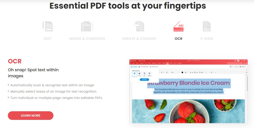 Soda PDF - Essential PDF tools at your fingertips - OCR Tool - How To Convert Scanned PDF into Word