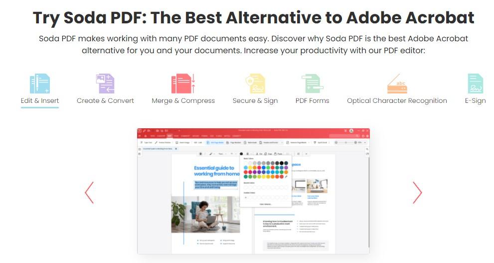 The Best Alternative to Adobe - Soda PDF - How To Convert PDF to JPG