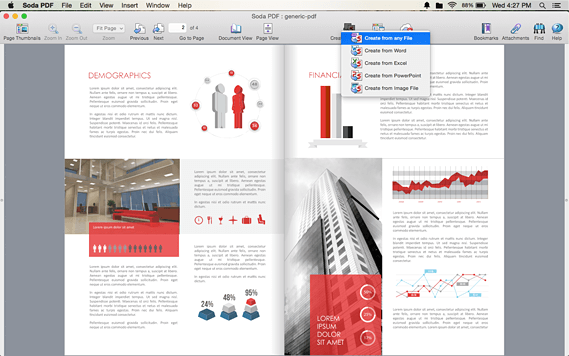 Create PDF files from Word, Excel, PowerPoint, and more on Mac OS X
