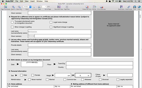 Fill in and save forms digitally for Mac OS X